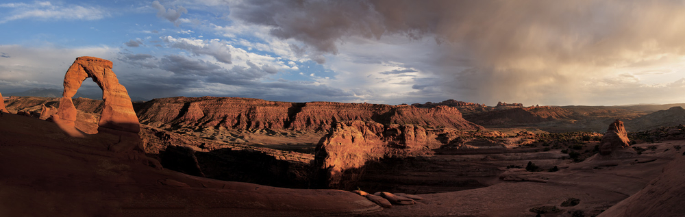 Delicate Arch Sunset Panoramic