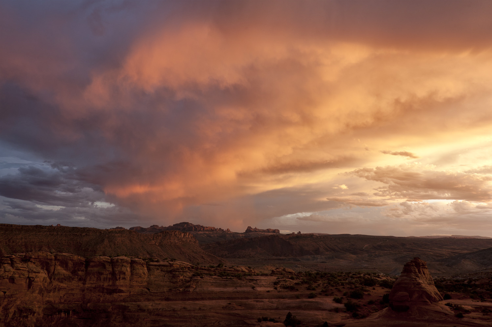Sunset Underlighting at Arches