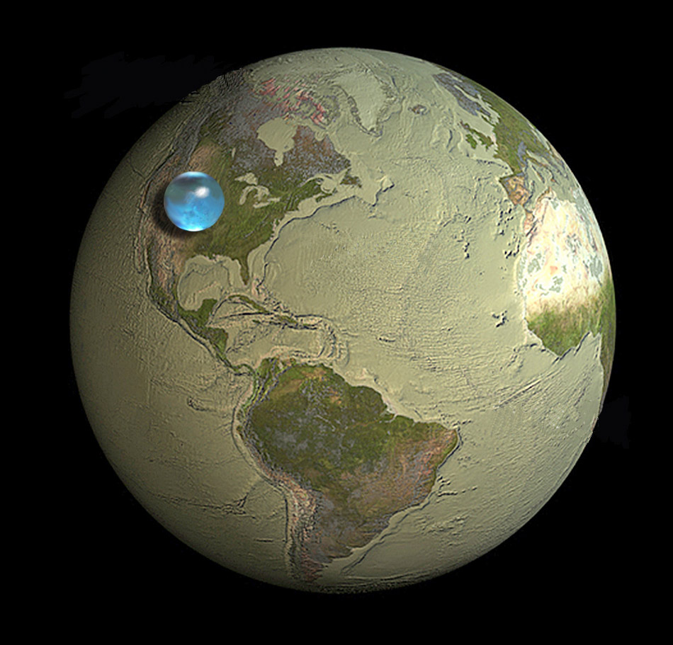 And of course, if you did so, the US would get all the water. We're like the Bond villain of nations.     bigweek :      If All of Earth's Water was put into Single Sphere.
