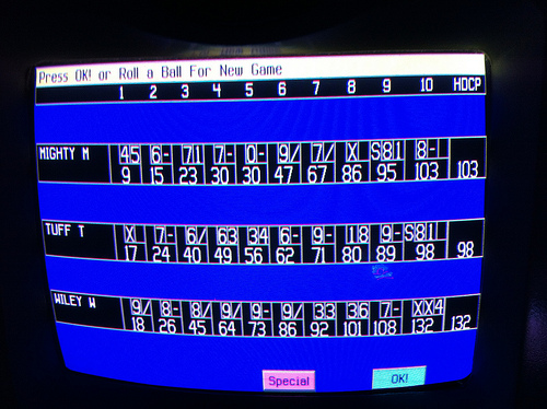 The names have been changed to protect the not-very-good-at-bowling.