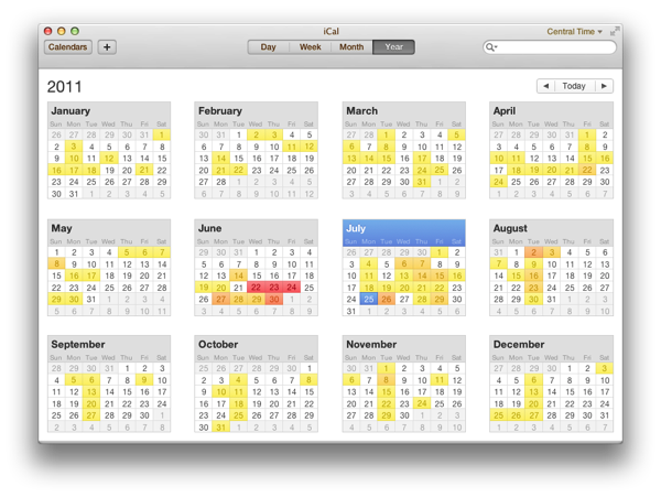 Ah, that's much better. That ever-present bit of torn paper cruft was driving me  nuts  I tells ya.    SOURCE:  How to remove the faux leather in iCal for OS X Lion | Simple and Usable     (Via  Ken Segall's Observatory .)