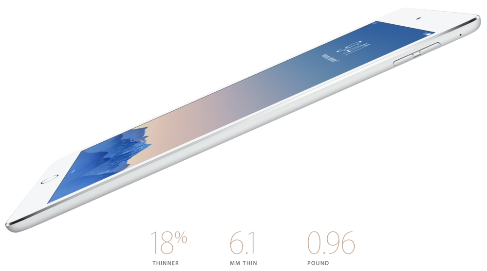 The iPad Air, which does not have pen input.