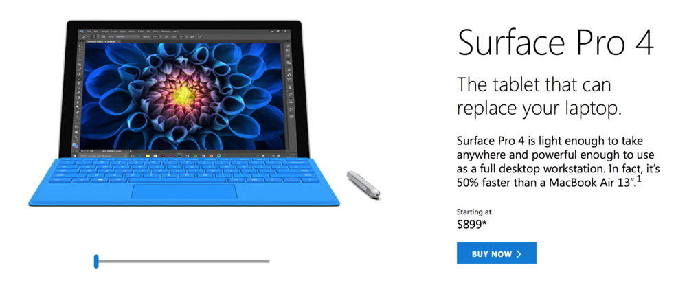 Microsoft Surface Pro 4 with Surface Pen