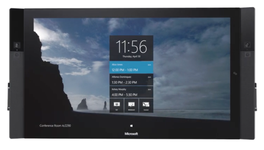 Microsoft Surface Hub, with TWO pens