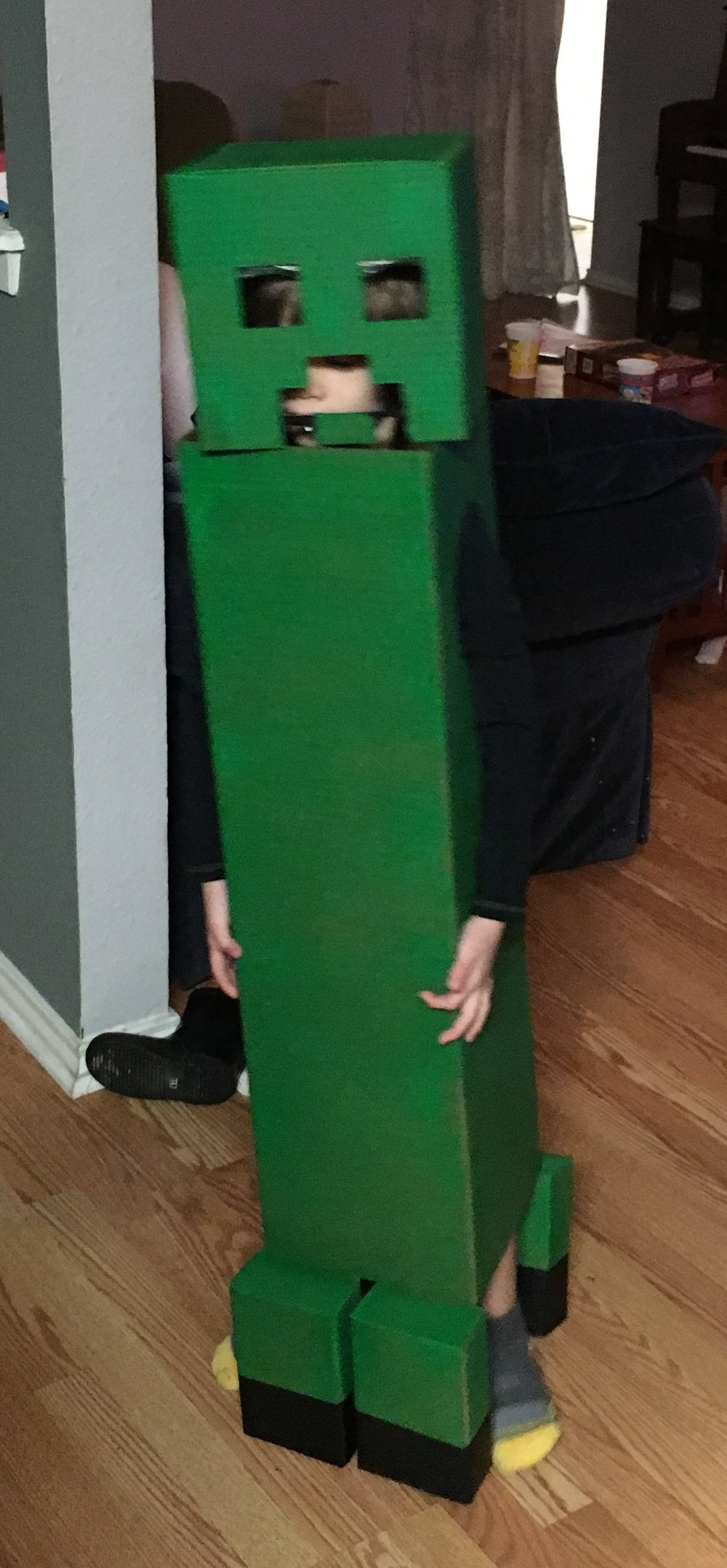 Liam as a Creeper from Minecraft