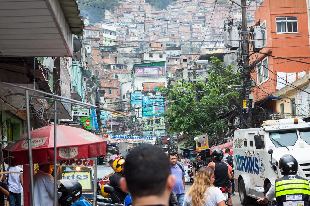 Rio de Janeiro, Rocinha, favela, landscape, travel photography, Brazil, Brasil, Via Apia, streets, crowds