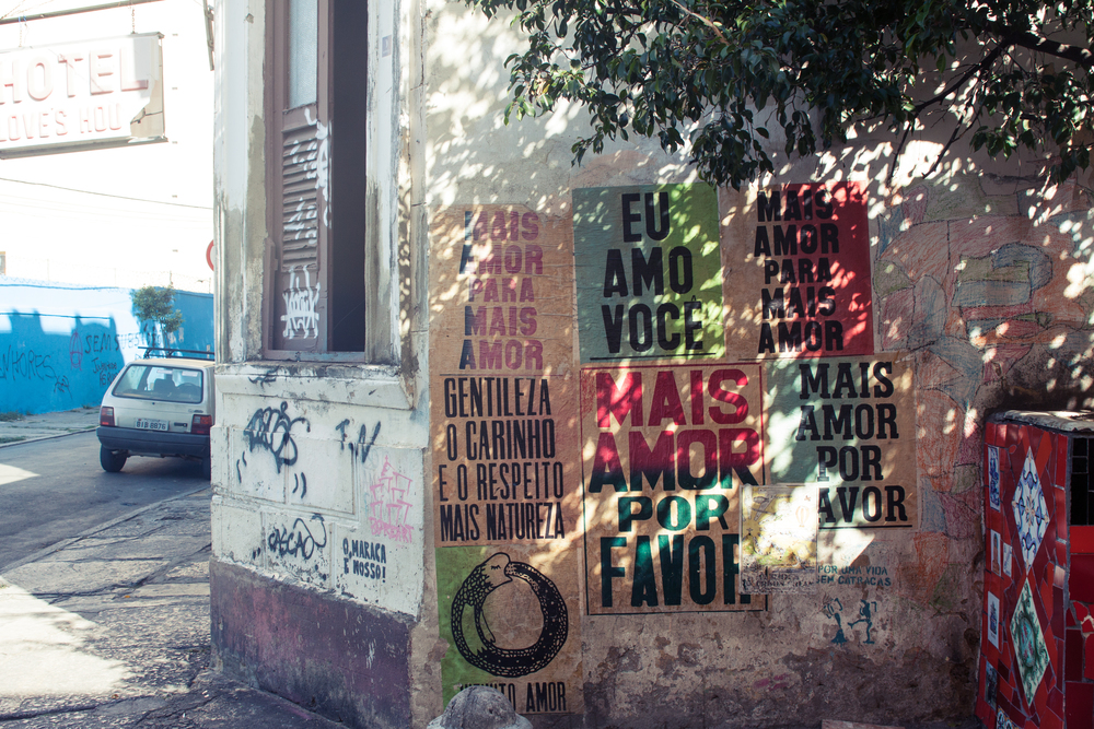 Brazil, Rio de Janeiro, Landscape, Travel photography, architecture, Lapa, street photography, Mais Amor Por Favor, graffiti