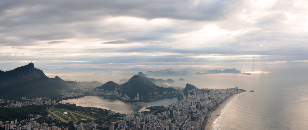 Rio de Janeiro, Brazil, landscape, travel photography, panorama, Two Brothers, Dos Irmaos, sunrise