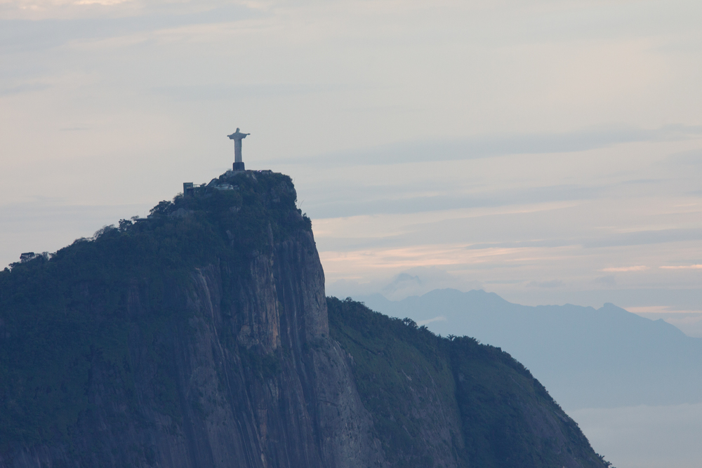 Rio de Janeiro, Brazil, landscape, travel photography, panorama, Two Brothers, Dos Irmaos, sunrise, Christ the Redeemer