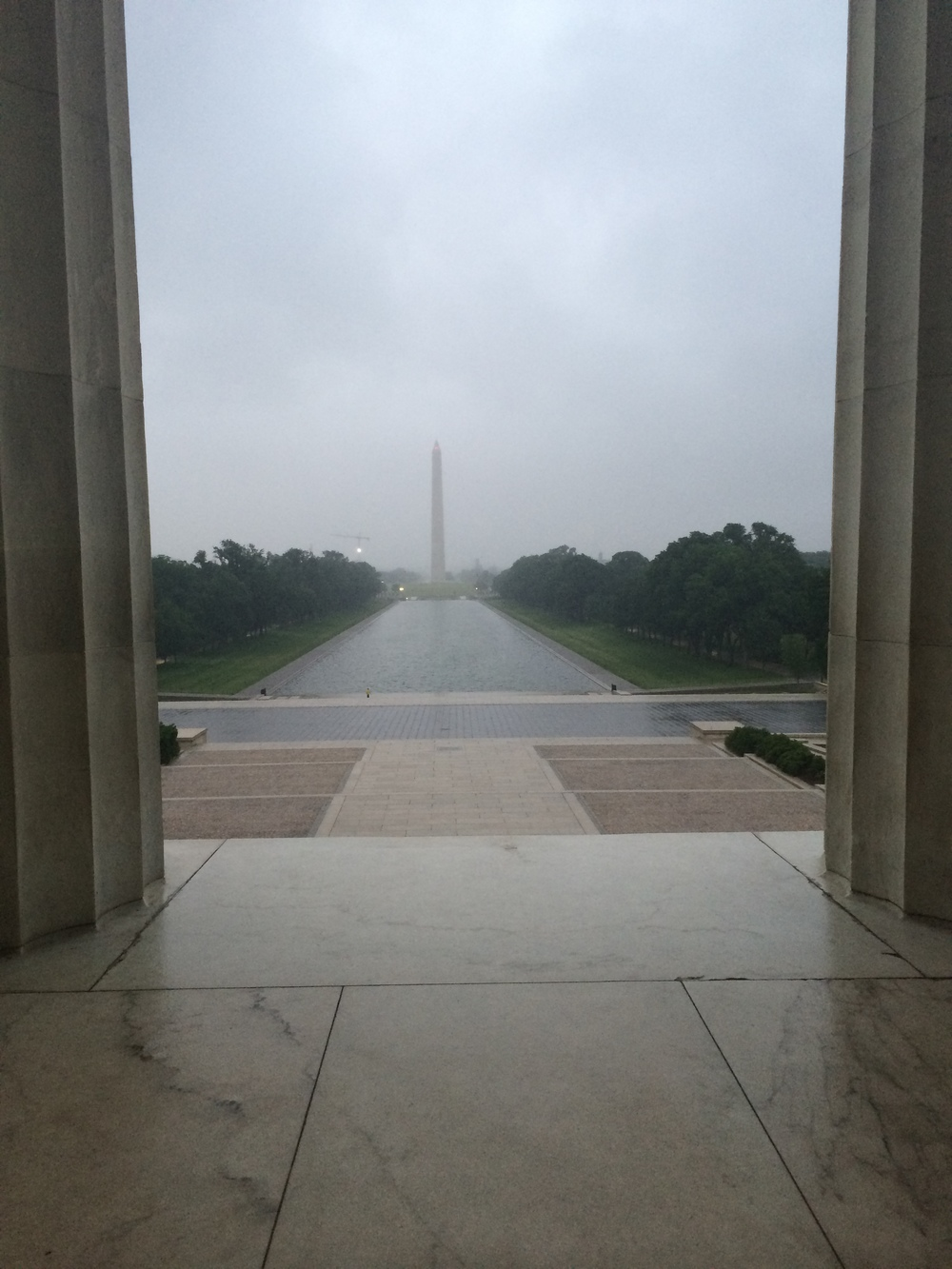 """A photo near the spot where Martin Luther King Jr. gave his """"I Have a Dream Speech"""""""