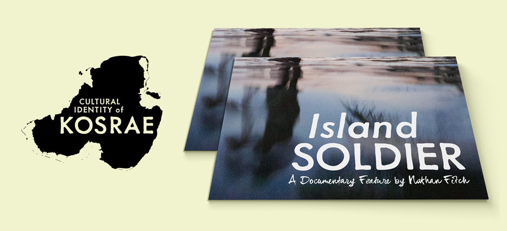 Logo design and promotional postcards for Micronesia Project/Island Soldier, a documentary film, 2013.