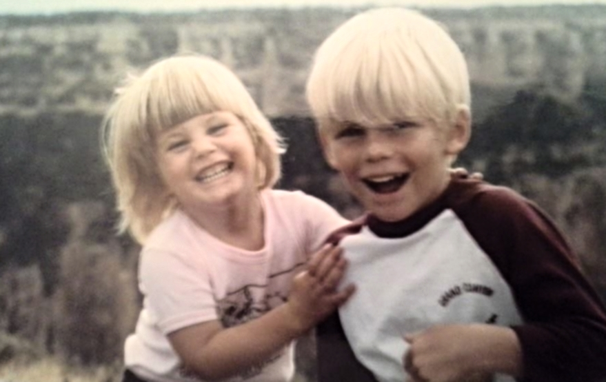 I wasn't spoiled, but I maaaay have been trying to push my brother off of the Grand Canyon in this picture. Maybe.