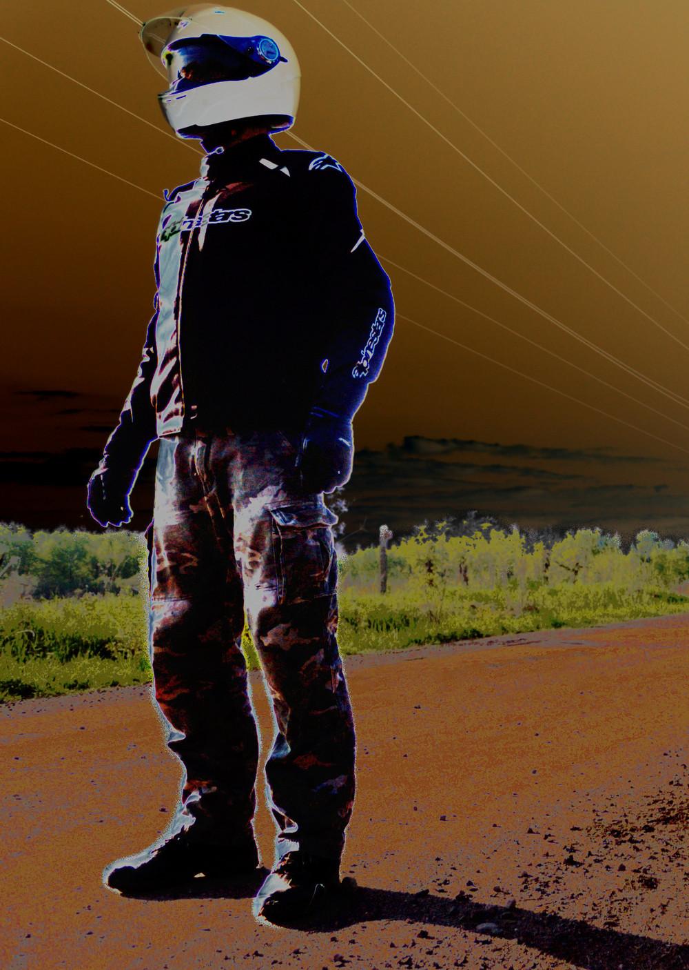GIMP processed poster photograph.