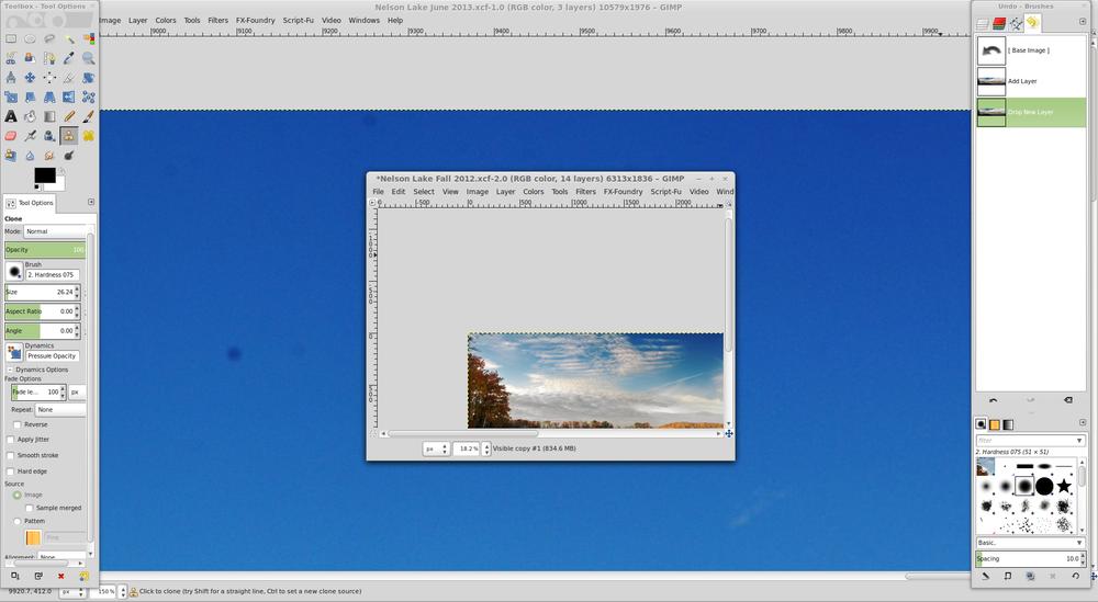 GIMP in it's default windowing mode.
