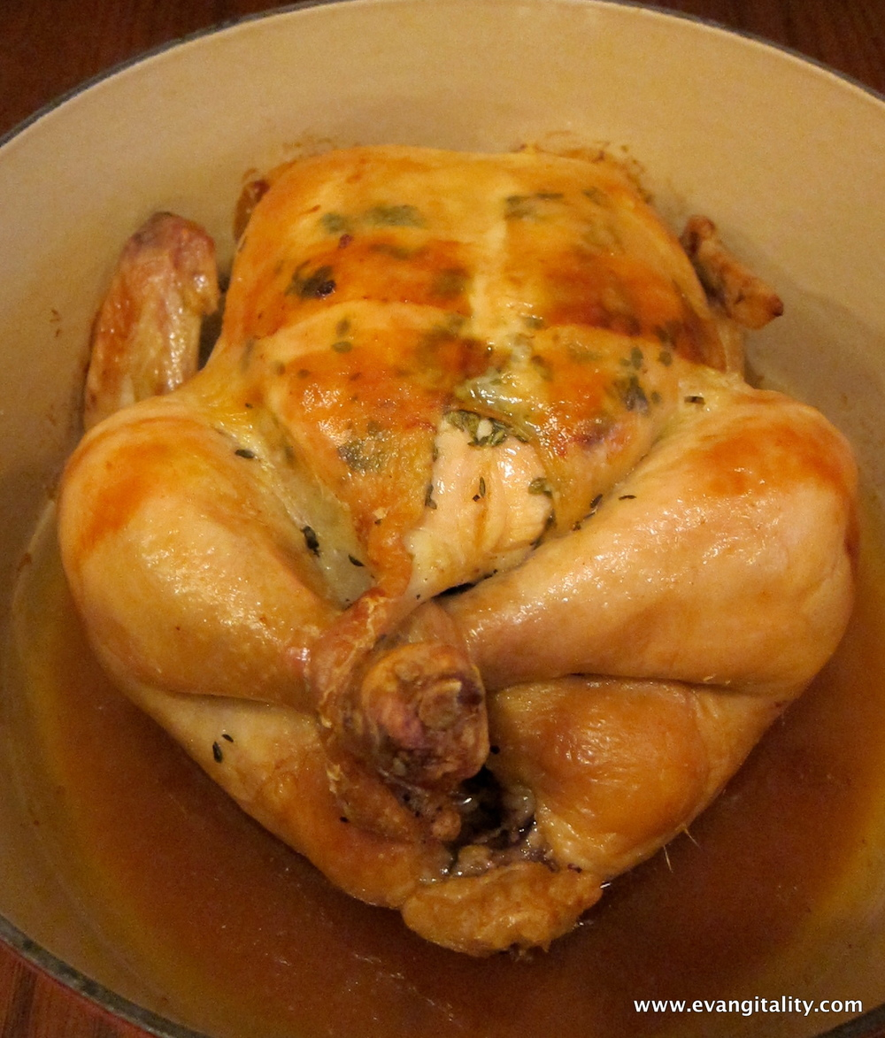 Roasted Chicken in a Pot