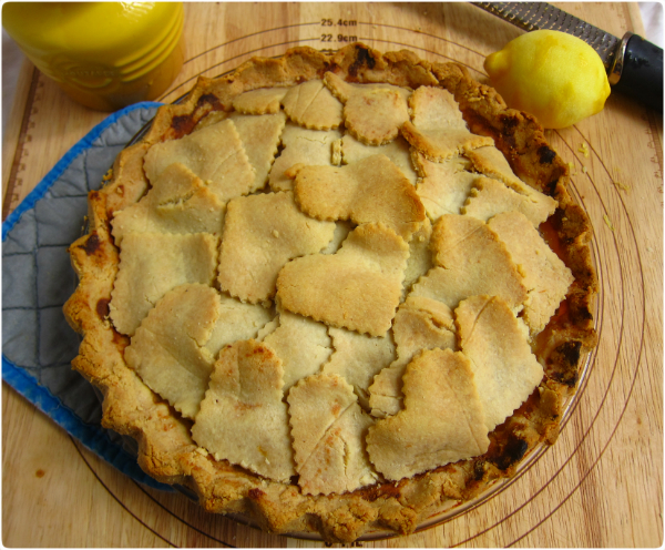 Double Crust Pear Pie (almond flour, no grains)