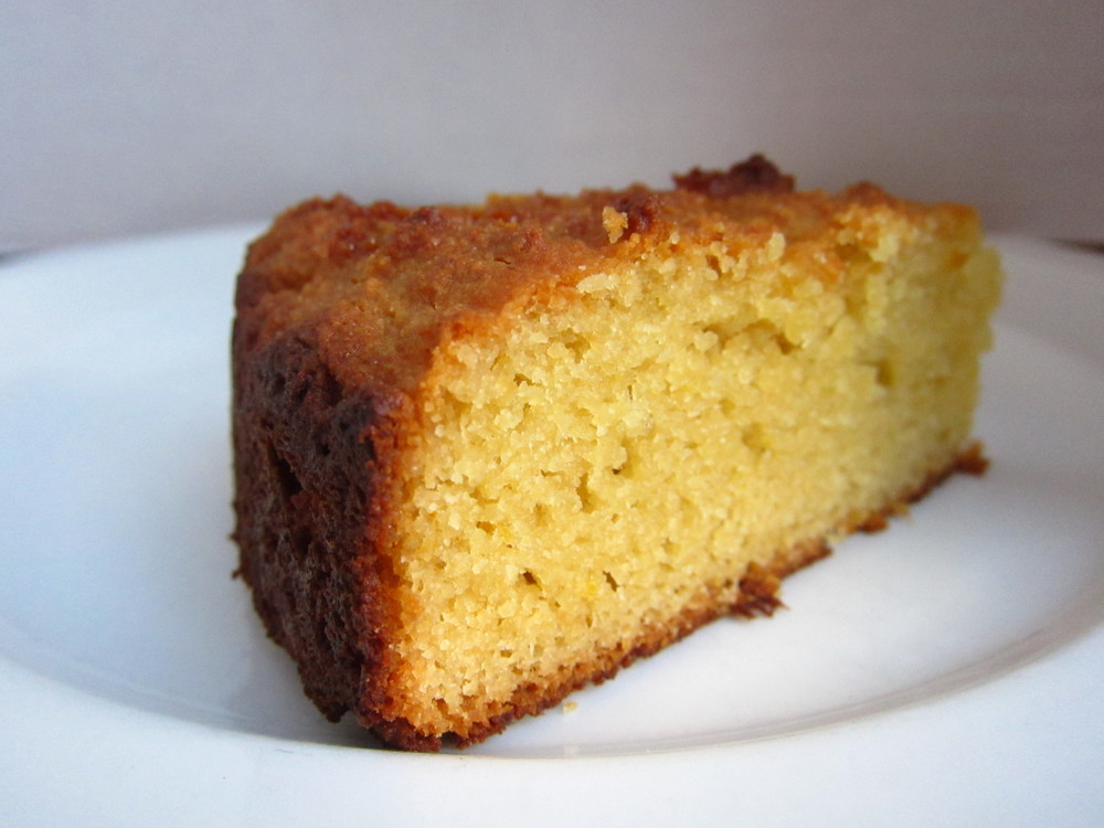 "Lemon ""Cornmeal"" Cake (no corn, grain free)"