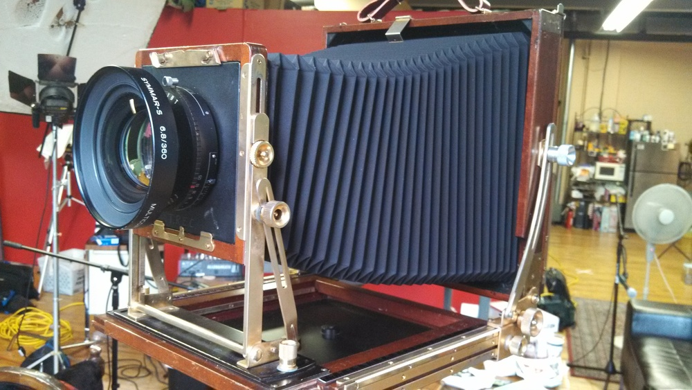 The new (to me) Tachihara 8x10 with Schneider Symmar-S 360 lens. Loving this combo already! ^__^