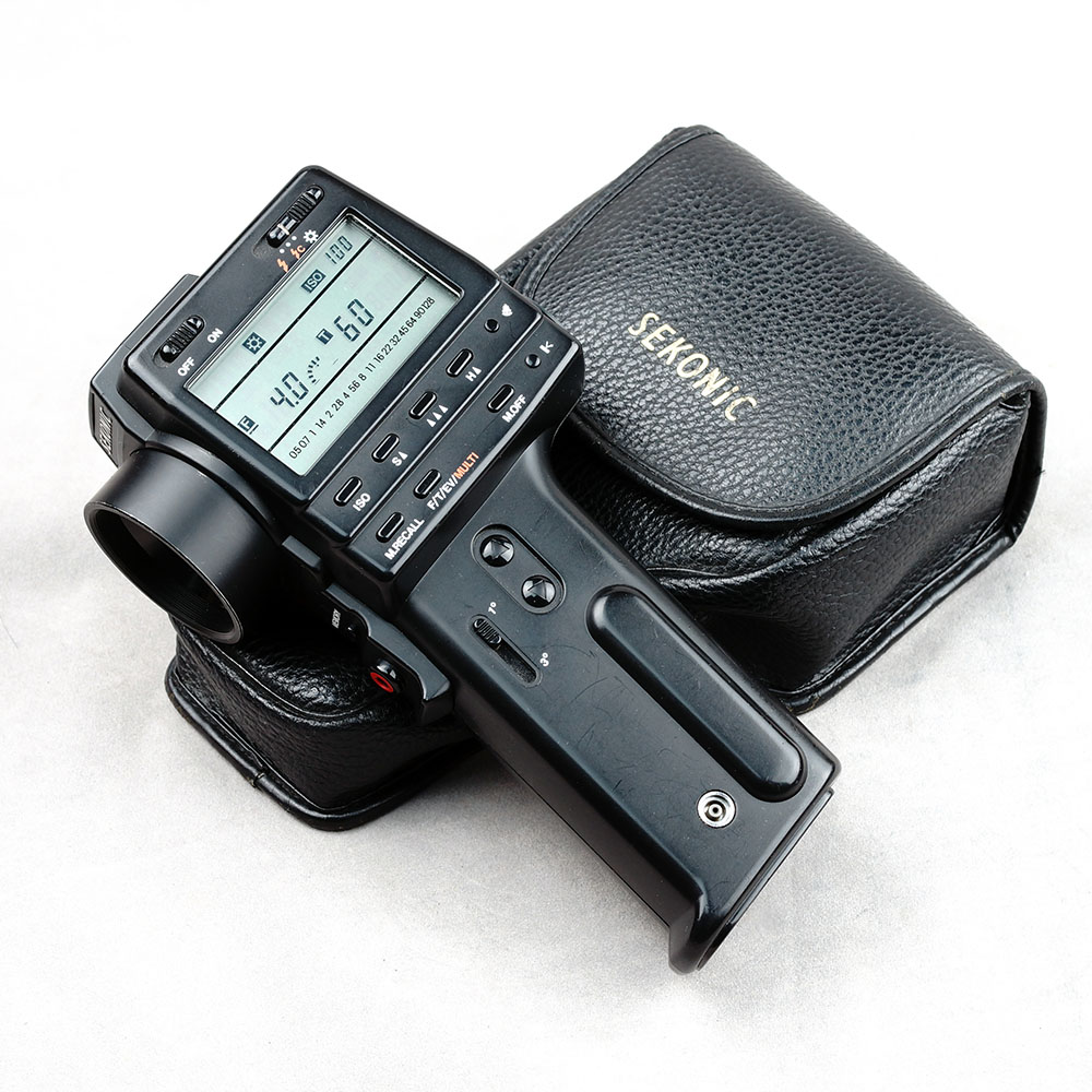"Ok, so maybe this light meter is a little larger than ""hand held"", but dang, it's spot-on and a joy to use in the field."