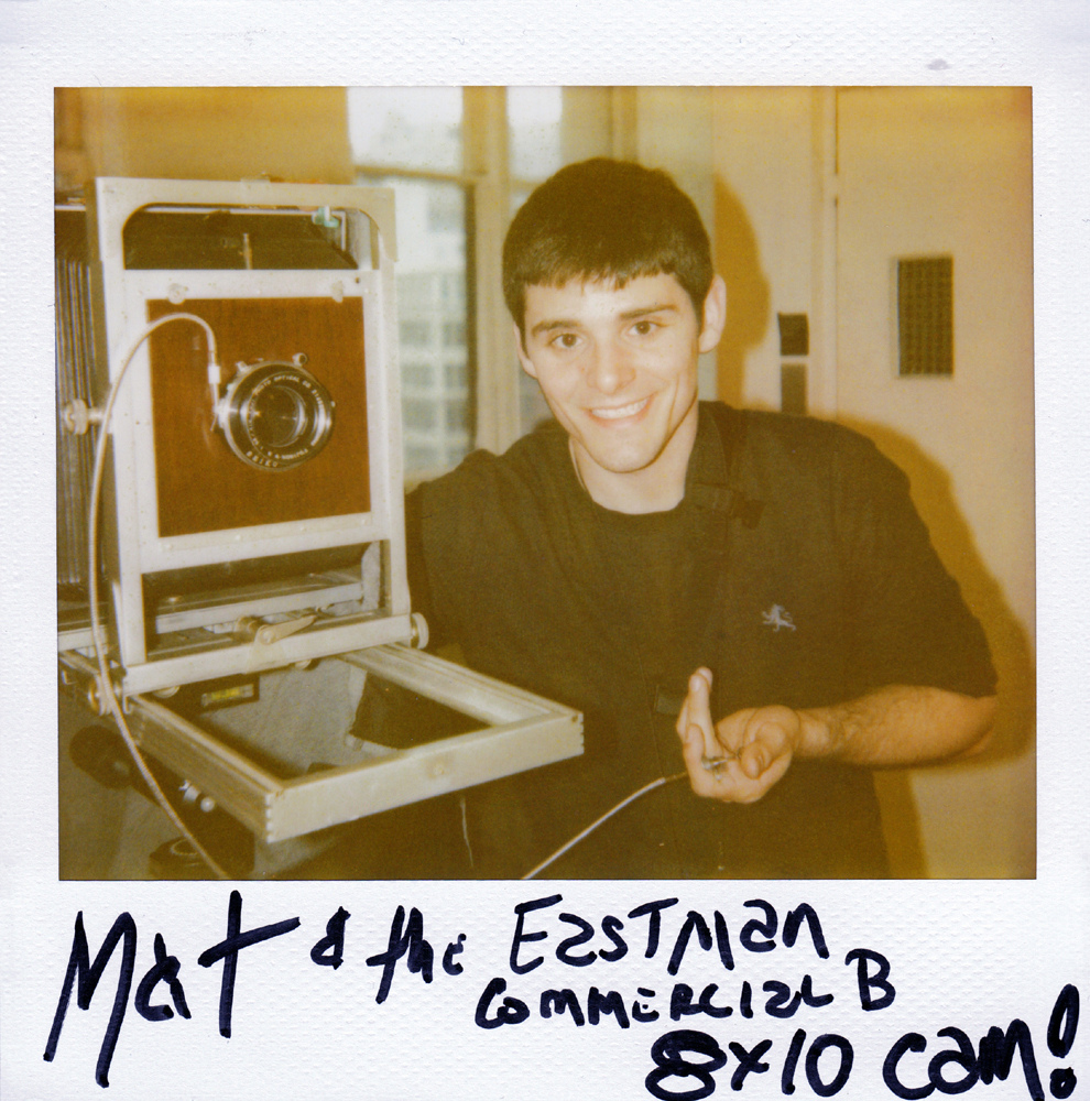 Polaroid Spectra portrait of the Eastman Commercial B 8x10 and me. Courtesy of Michael Raso.