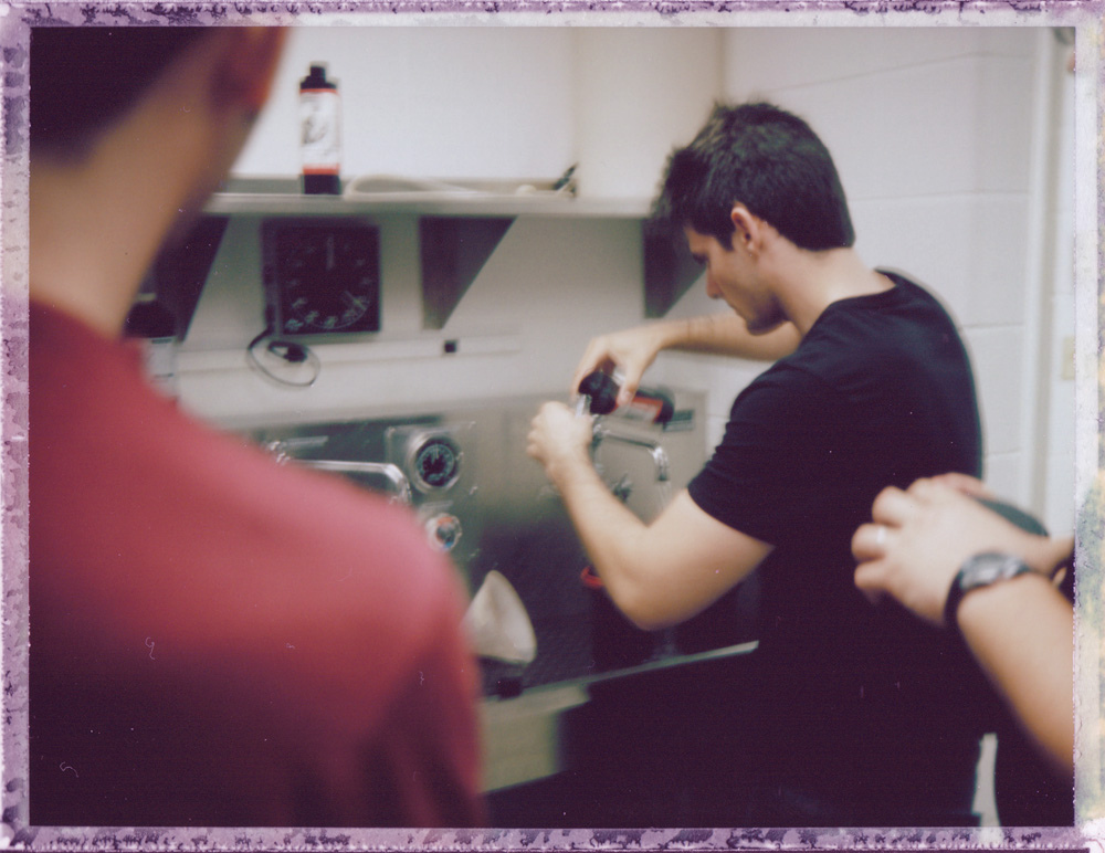 Yours truly working in the darkroom. Photo courtesy of Michael Raso, FPP Founder & Host