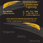 Distinctive Landscape Lighting 2012 Business Card Design, Print Material and Letterhead