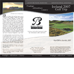 Best of Both Golf and Ski Travel    2007-2009   Brochure and Fact Sheet Design