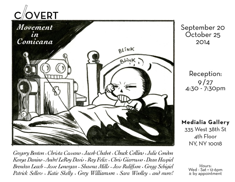 medialia_gallery_exhibit_comics_nyc_gallery_FPtP_09_Covert_movement_invite_sept_2014.jpeg