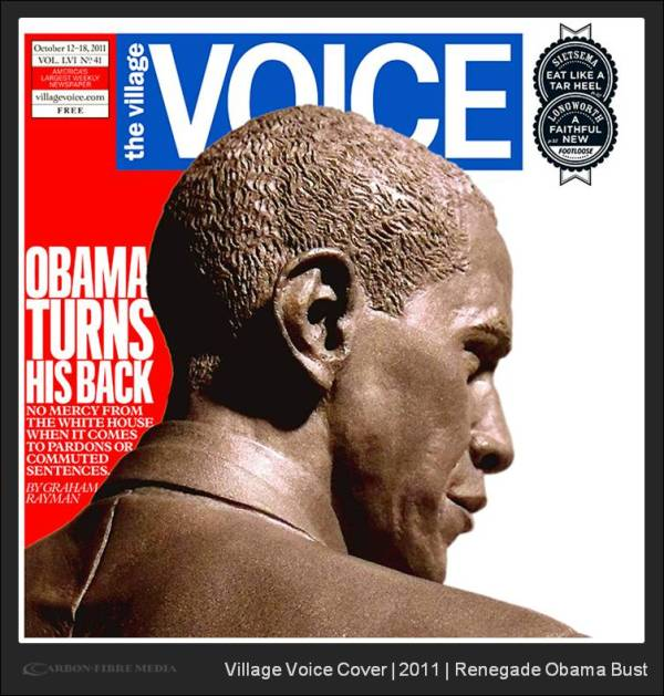 The Village Voice Cover | Renegade Obama Bust