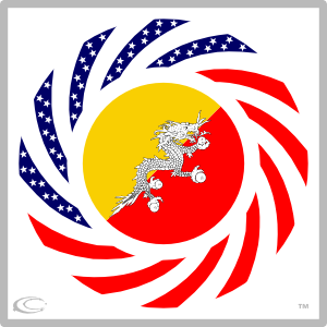 Asian american flags