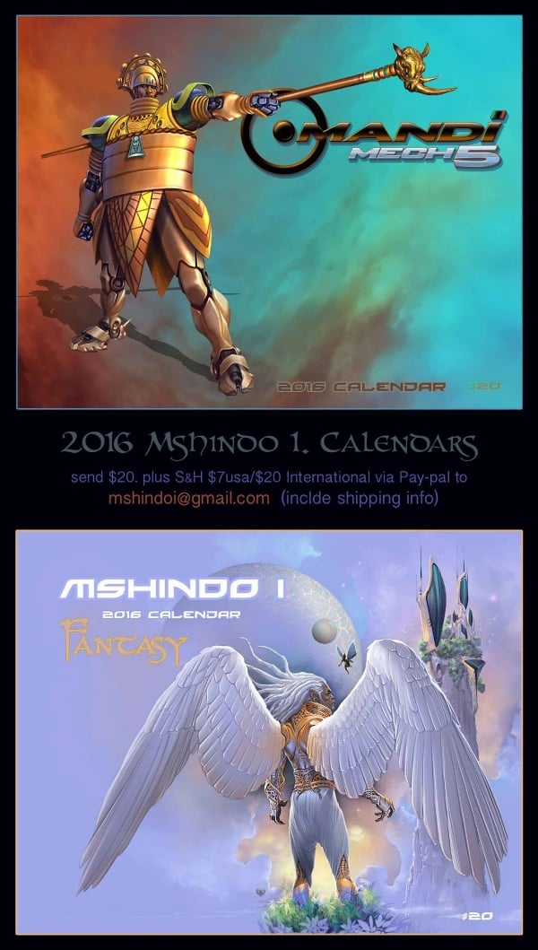 art of mshindo i 2016 calendar