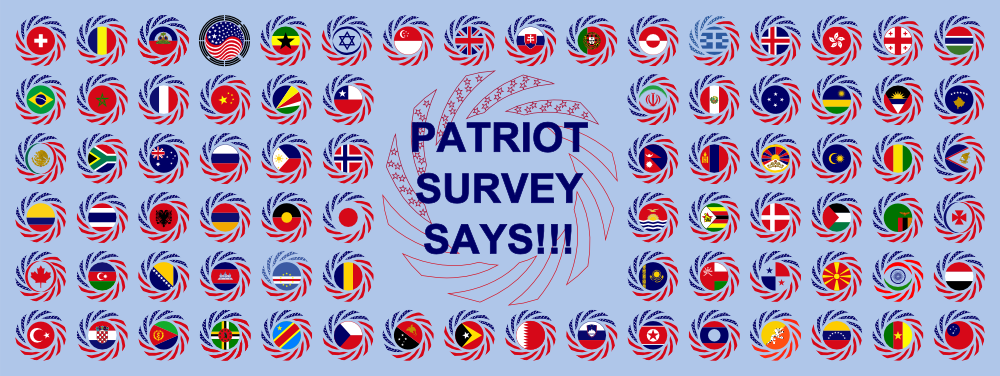 MULTINATIONAL PATRIOT SURVEY SAYS!!!