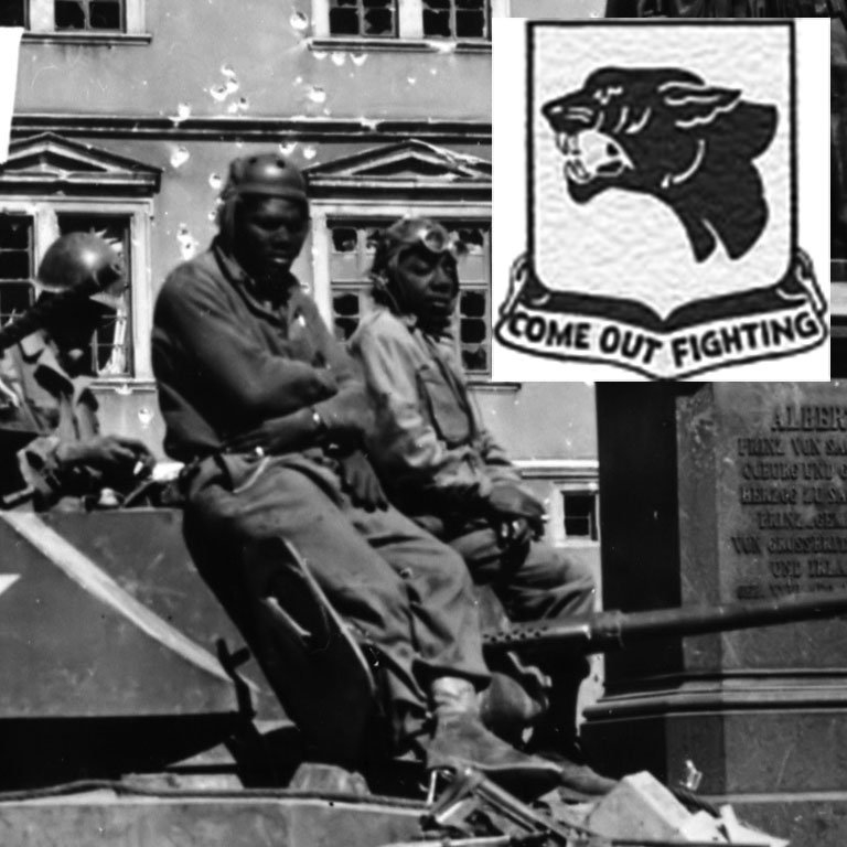 "During World War II, 761st Tank Battalion, fought with distinction as ""The Black Panthers."""
