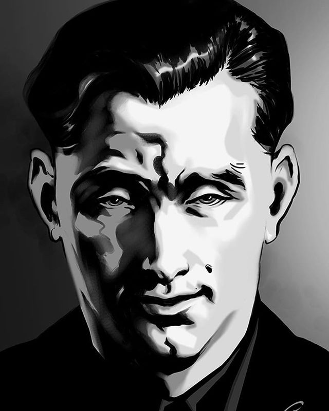 Portrait of a killer.  Art by #GreyWilliamson @greyrevealed  #WouldHaveBeenWednesday #sequentialart #comics #CarbonFibreMedia