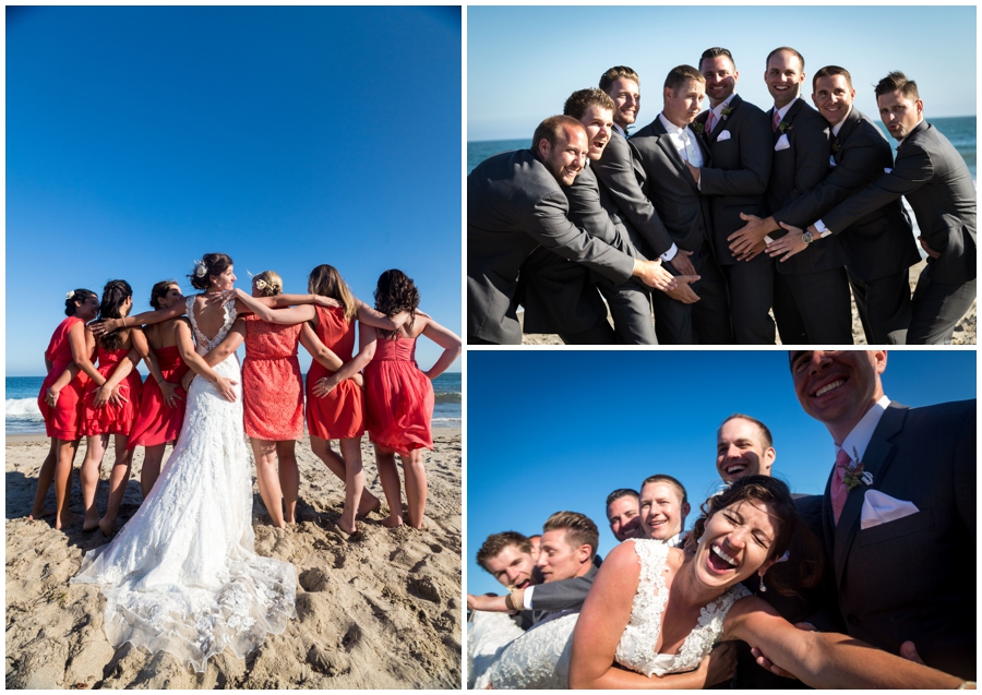 Vanessa's bridal party were given the instructions to buy a coral dress - colors were totally spot on.