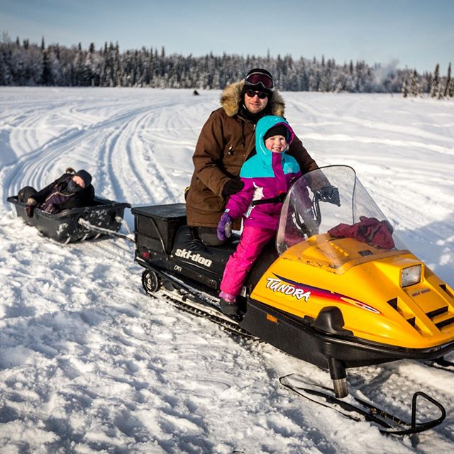 Taking a ride on Butterfly Lake in Willow, Alaska February 2018