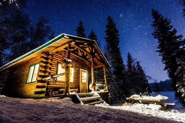 Bald Lake Cabin in Willow, Alaska January 2018