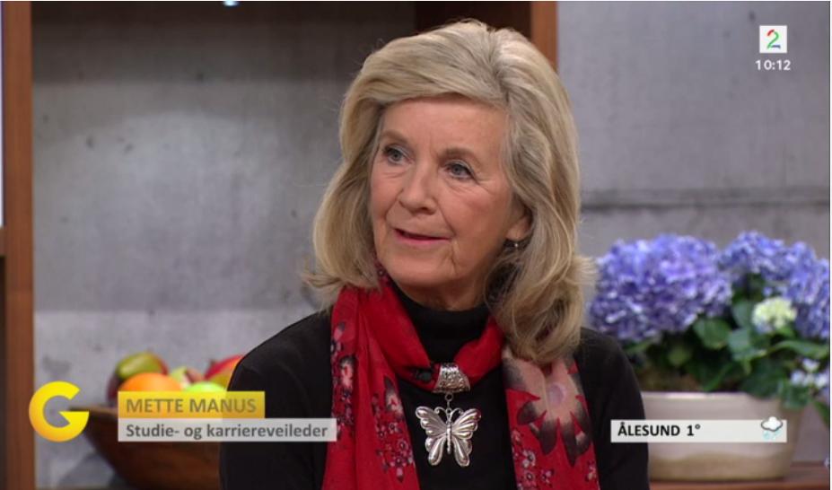 Mette på God Morgen Norge på TV2 om hva man skal tenke på ved studievalg. Klikk for å se innslaget. - 19.01.16