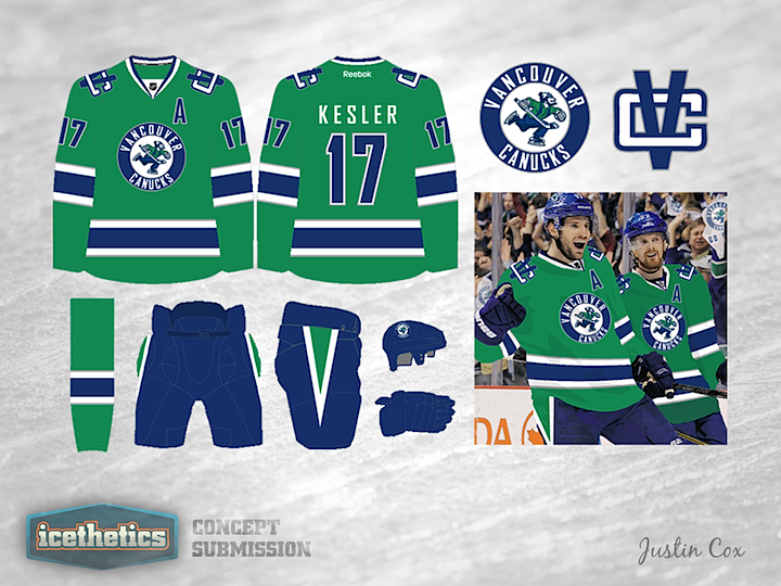 8bd362df8 It seems like green is the only jersey color that the Vancouver Canucks  haven t used. They ve had yellow