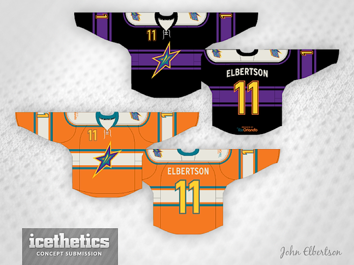 Then John also submitted a couple of more traditional-style designs in  those eye-catching colors. The ECHL will only need one All-Star jersey  because the ... 787d6c6b4