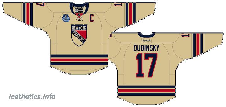aabbd06ca Rendering of rumored design of New York Rangers  2012 Winter Classic jersey    icethetics.info