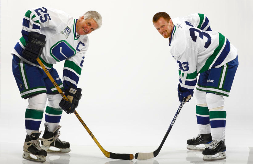 And that s all you really need to know. I ll leave you with this shot of  Kurtenbach and Sedin. Now tell us what you think of this classic sweater. 8229a7db9