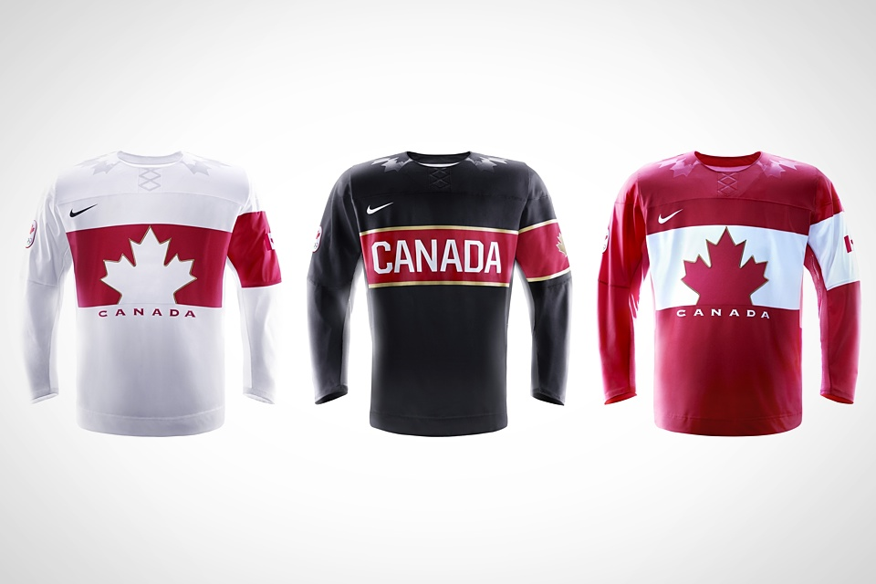 Canada will have three jersey options in Sochi.