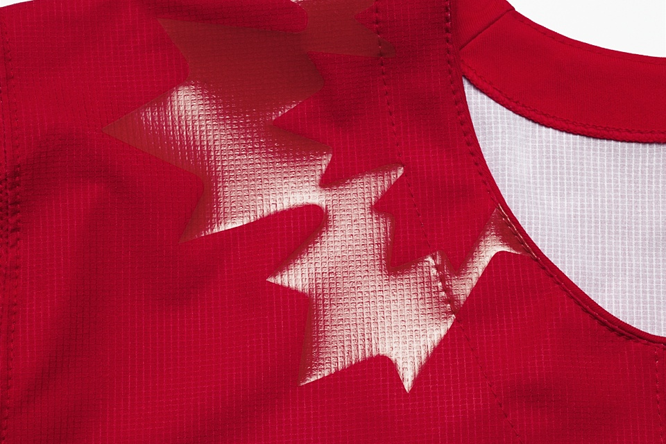 Subtle maple leaf designs adorn the shoulders, but they're only visible in the right light.
