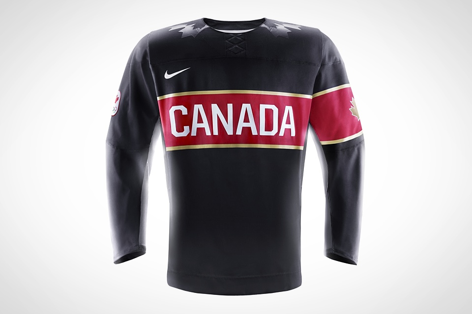 Canada's black jersey injects a bit of gold trim into the mix.