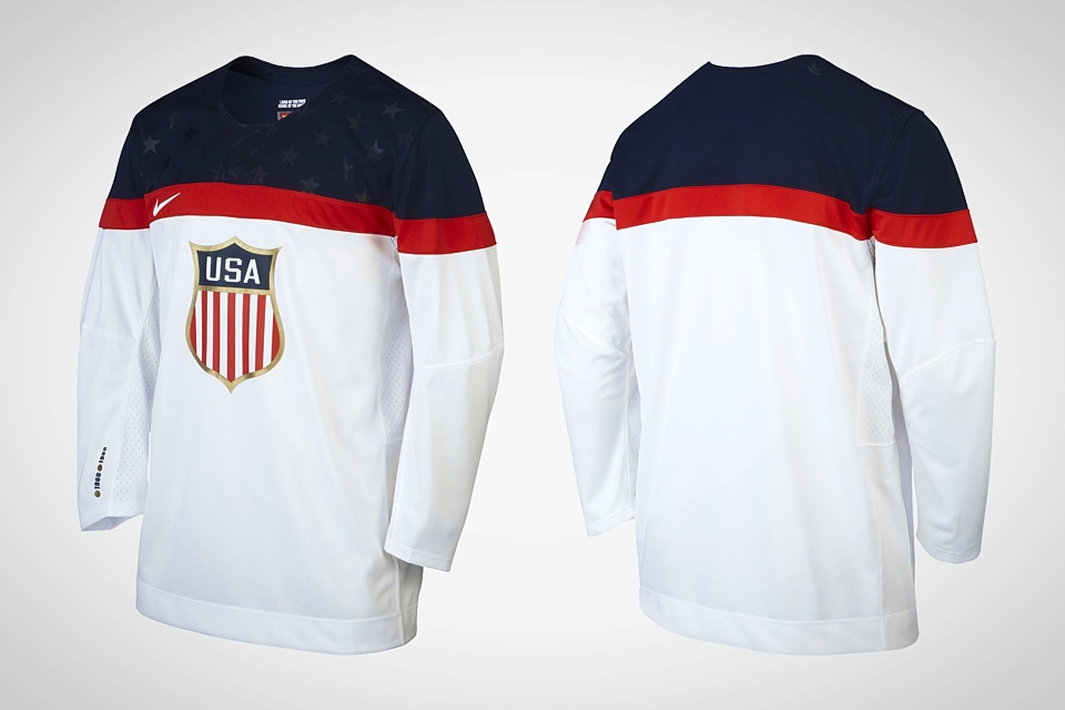 What was changed for the retail version? Check out the right cuff for the gold medal years.