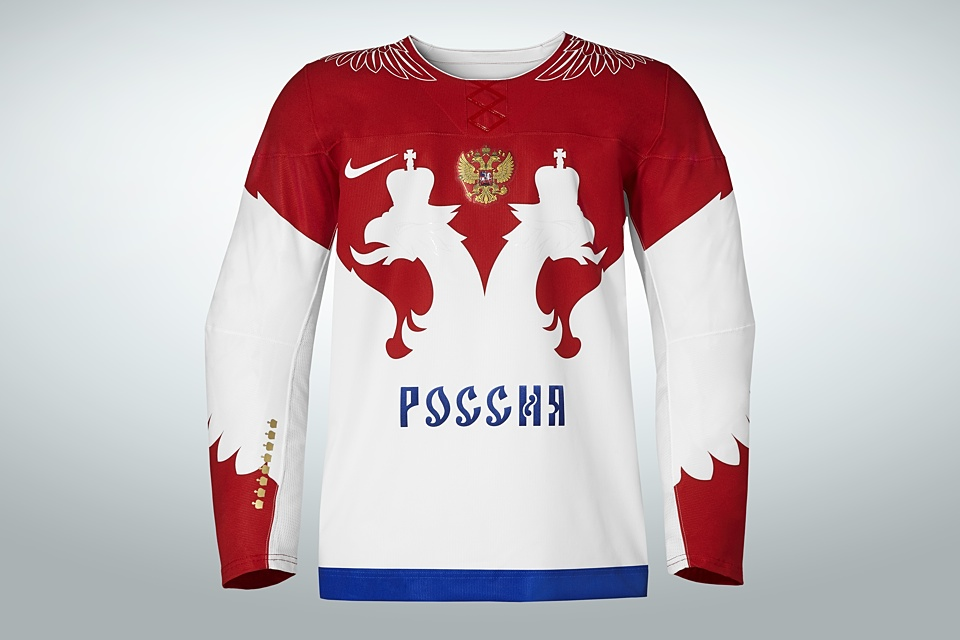 The other jersey is not quite red and not quite white. It's certainly a unique mix.