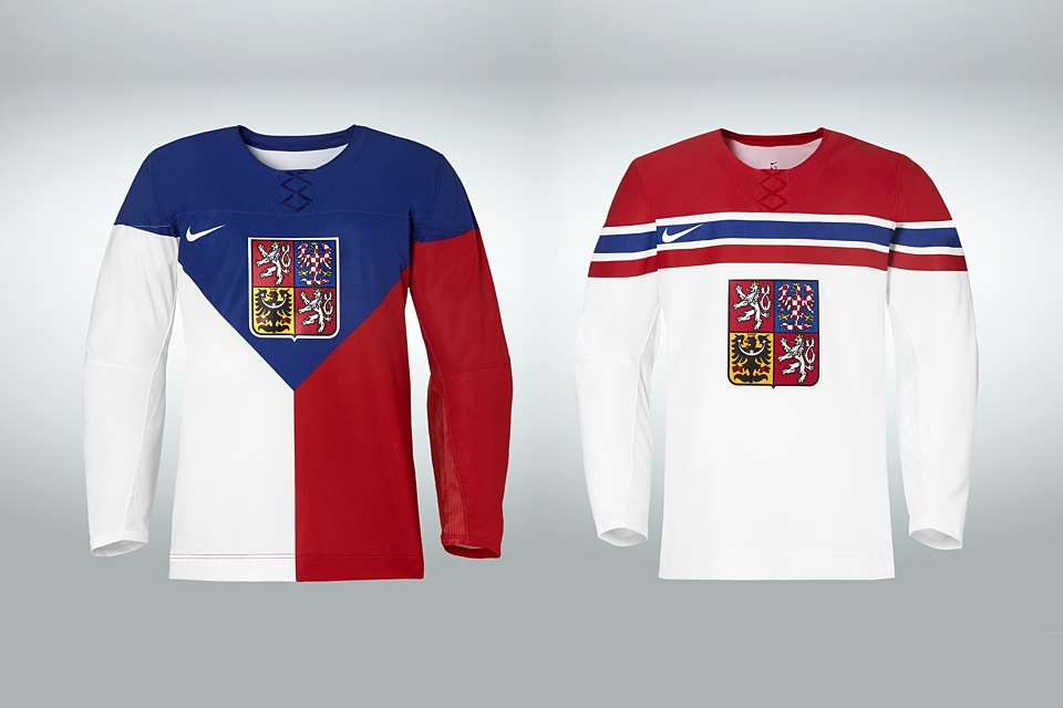 Like Russia, the Czechs get non-matching light and dark jerseys.