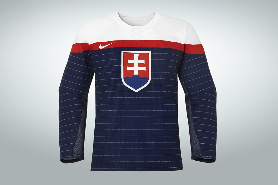 Slovakia's blue jersey is a simple reverse of the white one, which separates it from the United States' set.