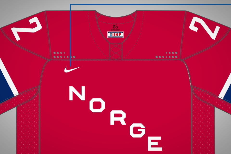 The same shoulder dots are on the front and back of the red jersey as well.